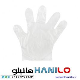 دستکش یکبار مصرف پلاستیکی مدل 01