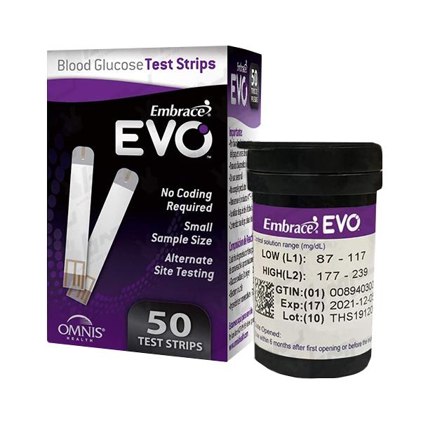 نوار تست قند خون EVO مدل Embrace EVO